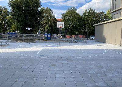 Spielfeldmarkierung: Basketballfeld
